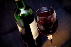 בקבוק של יין